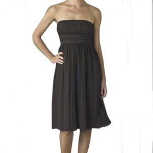 J Crew Emily Silk Chiffon Strapless Empire Dress